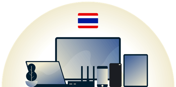 Thailand VPN protecting a variety of devices.