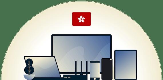 Hong Kong VPN protecting a variety of devices.