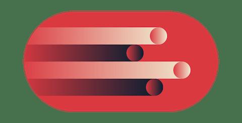 Grüne Schilde mit Häkchen auf einer Reihe von Geräten.