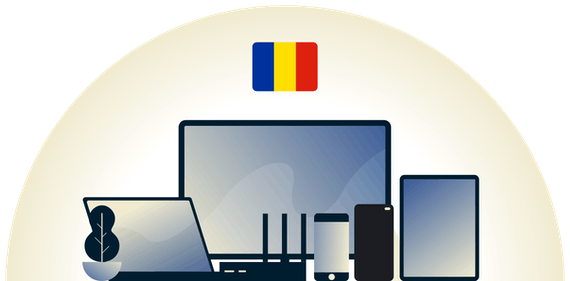 Romania VPN protecting a variety of devices.