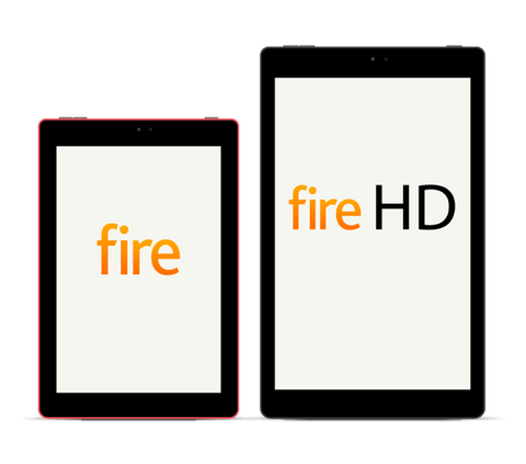 Amazon Fire and Fire HD tablets.