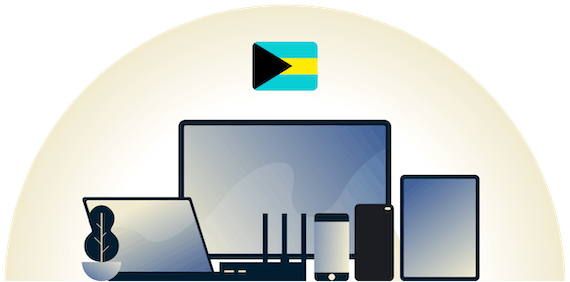 Bahamas VPN protecting a variety of devices.