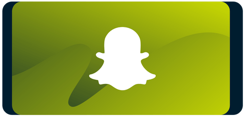 Snapchat logo on smartphone