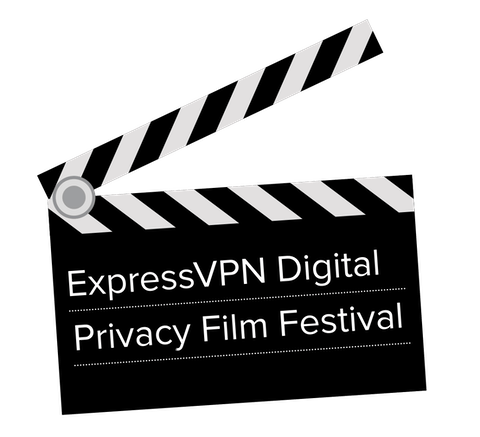 "Clapboard that reads ""ExpressVPN Digital Privacy Film Festival."""