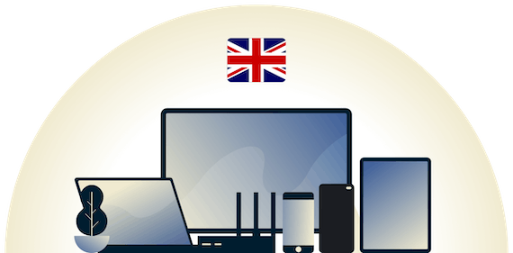 UK VPN protecting a variety of devices.