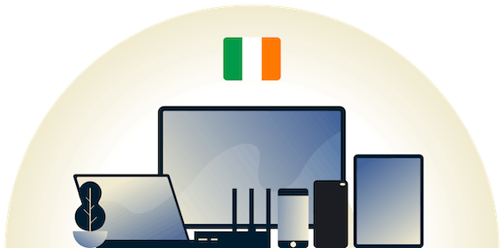 Ireland VPN protecting a variety of devices.