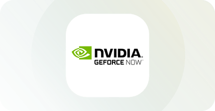 Nvidia GeForce Now logo.