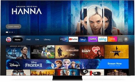 TV with fire tv UI.