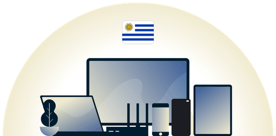Uruguay VPN protecting a variety of devices.