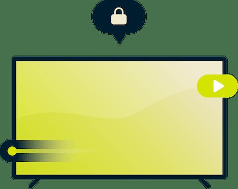 Jogue melhor com uma VPN: uma jogadora de videogame segurando um controle.