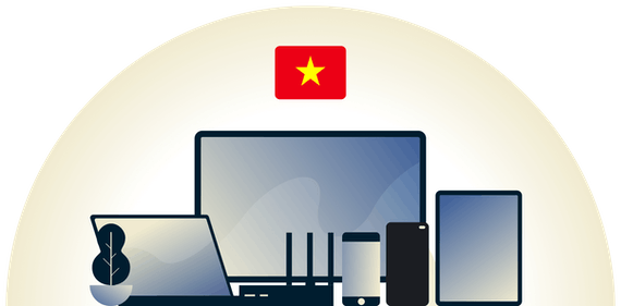 Vietnam VPN protecting a variety of devices.
