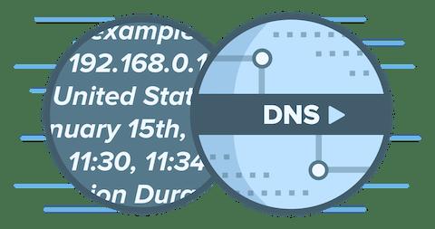 DNS-Logo zeigt wie DNS-Dienste Dritter persönliche und identifizierbare Daten protokollieren können
