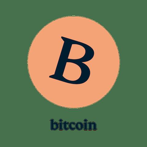 ビットコインのロゴ。ExpressVPNは、ビットコインやPayPalを含むすべての主要な支払いを受け付けています。