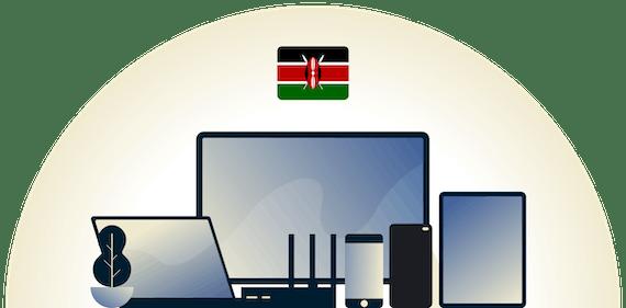 Kenya VPN protecting a variety of devices.