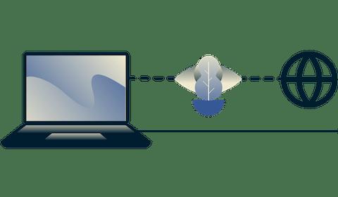 Cómo evitar las limitaciones con una VPN: diagrama que muestra a un ISP incapaz de determinar si un usuario está haciendo streaming de video.