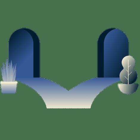 Раздельное VPN-туннелирование: изображение железнодорожных путей, разветвляющихся в двух направлениях, один путь ведет в туннель, а другой нет.