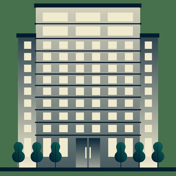 Bürogebäude mit VPN.