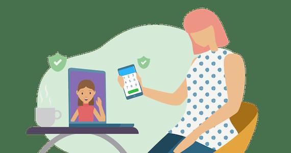 Skype-samtal med ett VPN.