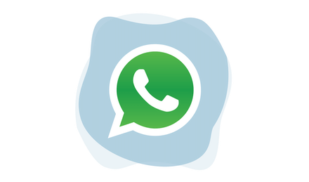 WhatsApp logo.
