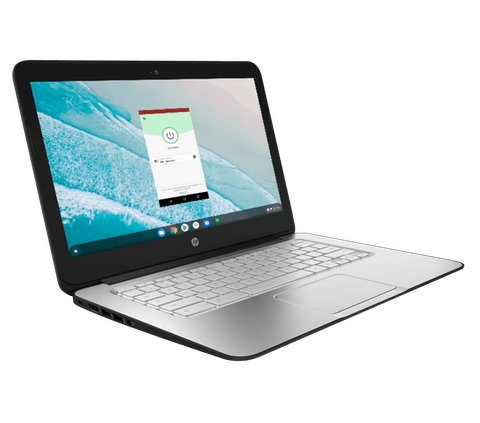 HP Chromebook'ta ExpressVPN.