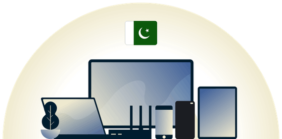 Pakistan VPN protecting a variety of devices.