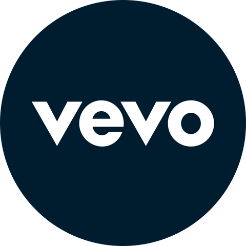 Desbloquee Vevo: logotipo con un candado abierto.