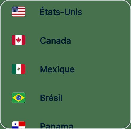 Connectez-vous à n'importe lequel de nos localisations serveurs.