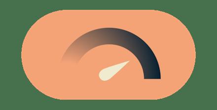 Internet-Tacho: Genießen Sie mit ExpressVPN blitzschnelle Geschwindigkeiten.