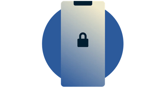 Lock icon on a mobile device