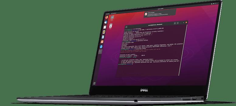The ExpressVPN app for Linux.