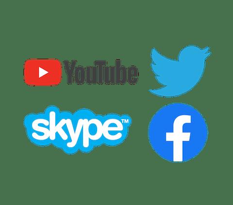 Nutzen Sie ExpressVPN, um YouTube, Twitter, Skype, Facebook und mehr zu entsperren.