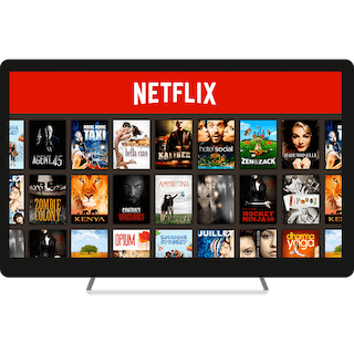 US Netflix on a computer monitor.