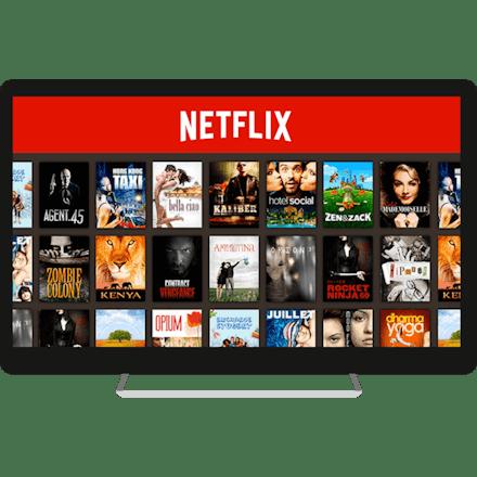 US Netflix på en computerskærm.