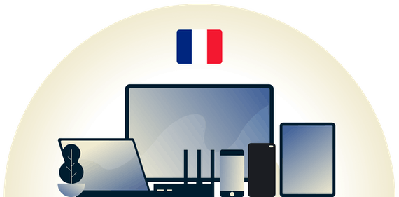 France VPN protecting a variety of devices.