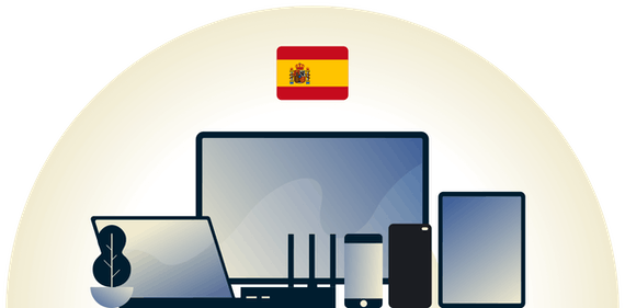 Spain VPN protecting a variety of devices.