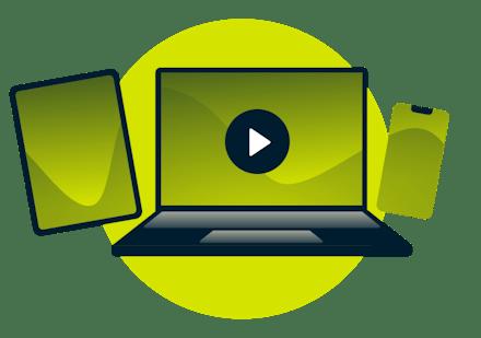 Video auf einem Tablet: Schauen Sie jede beliebigen Inhalte ohne Wartezeiten.