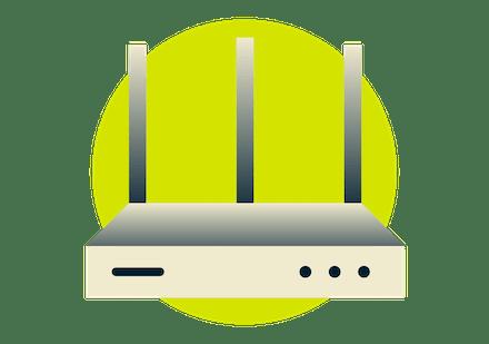 Стрелка, показывающая, что ExpressVPN устанавливается на Wi-Fi-роутере