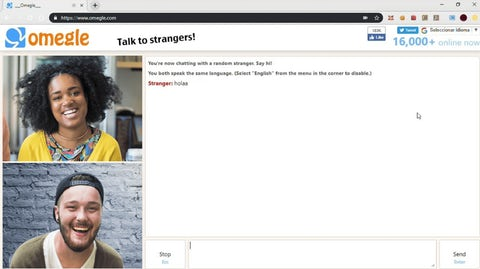 Omegle chat screen.
