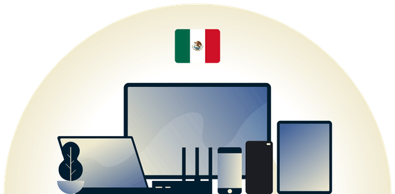 Mexico VPN protecting a variety of devices.