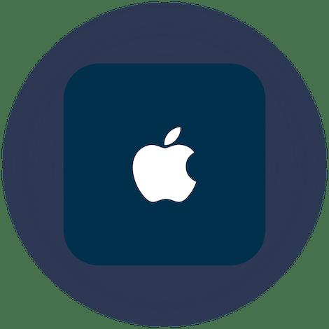 Een Apple TV en afstandsbediening.