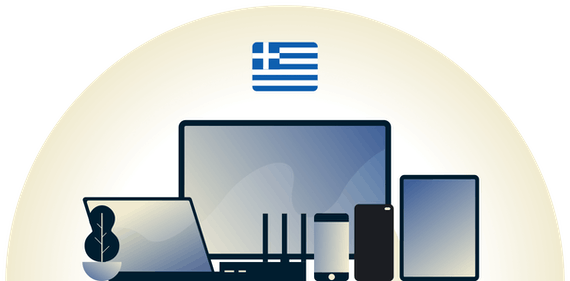 Greece VPN protecting a variety of devices.