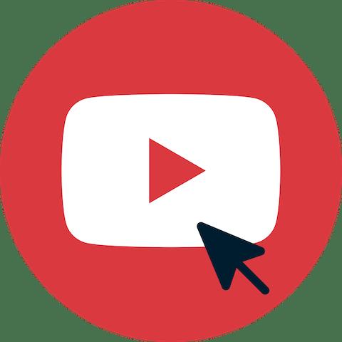 Курсор над кнопкой Subscribe YouTube.
