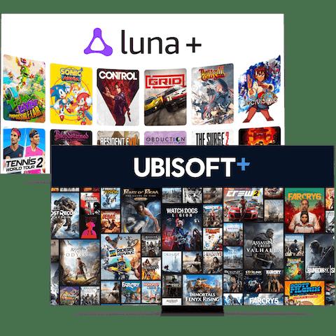 Amazon Luna+ en Ubisoft+ gaming-kanalen.
