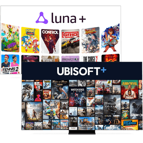 Amazon Luna+ and Ubisoft+ gaming channels.