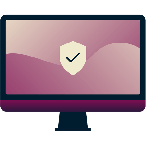 What is the difference between a Proxy and a VPN? Computer screen with a shield with a checkmark on it.