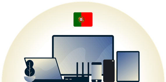 Portugal VPN protecting a variety of devices.
