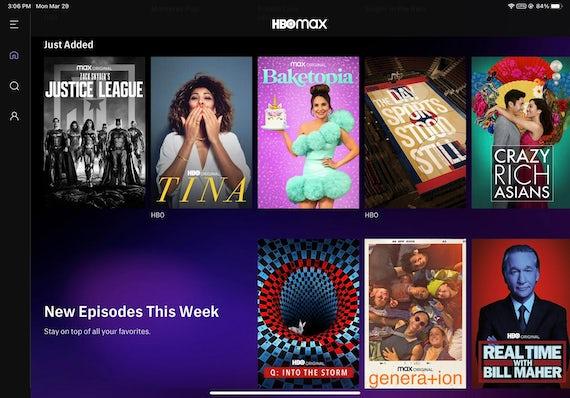 Filmer och program att streama i HBO Max