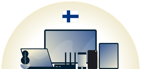 Finland VPN protecting a variety of devices.