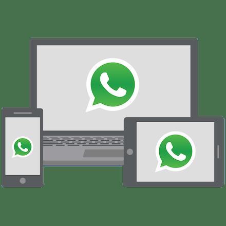 WhatsApp på laptop, mobil och tablet.