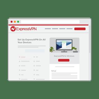 ExpressVPN setup page